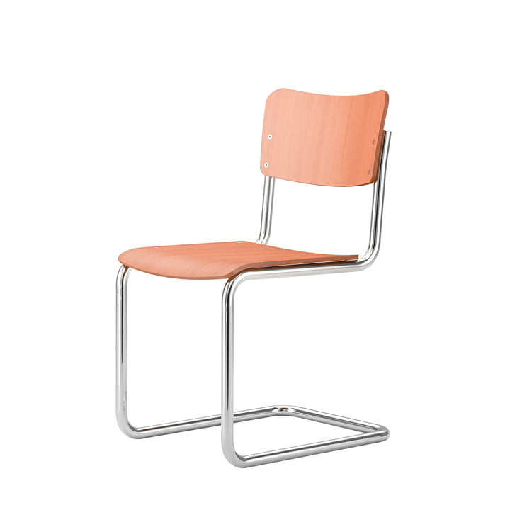 Kids chair S 43 K from Thonet in coral agate