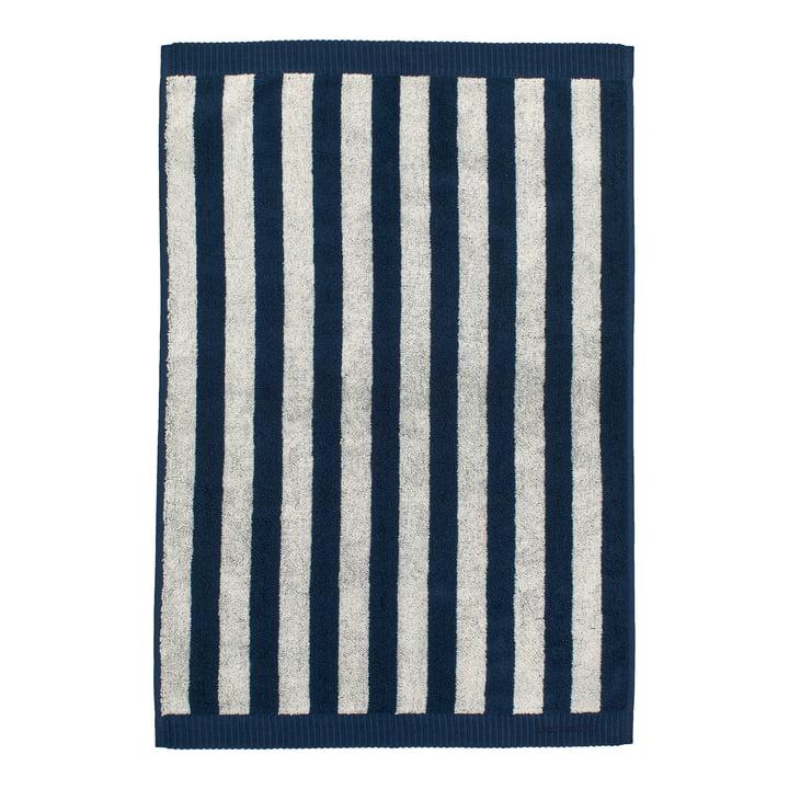 Marimekko - Kaksi Raitaa Towel 50 x 70 cm, sand / dark blue