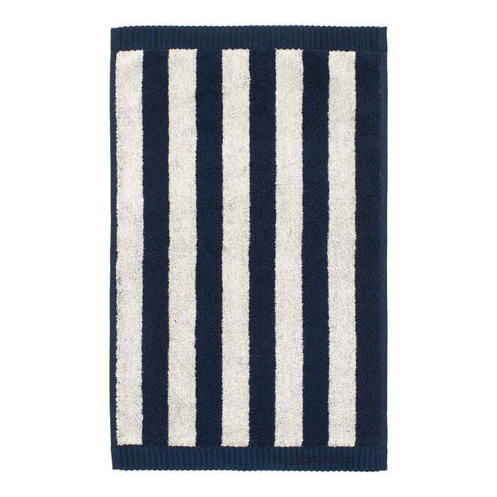 Marimekko - Kaksi Raitaa Guest towel 30 x 50 cm, sand / dark blue