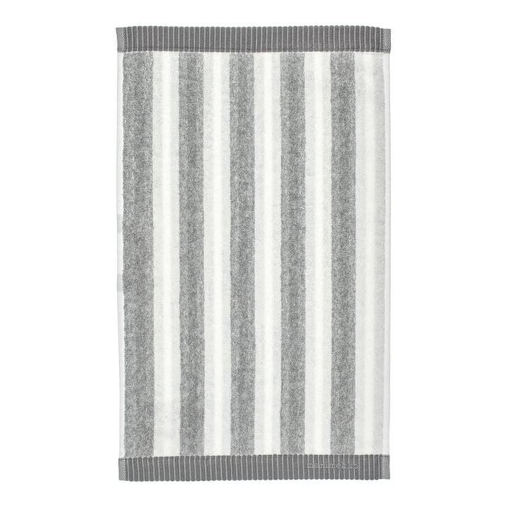 Marimekko - Kaksi Raitaa Guest towel 30 x 50 cm, white / grey