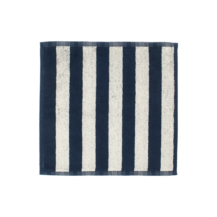 Marimekko - Kaksi Raitaa Mini towel 30 x 30 cm, sand / dark blue