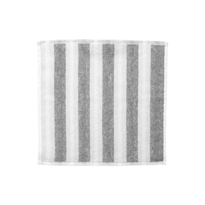 Marimekko - Kaksi Raitaa Mini towel 30 x 30 cm, white / grey