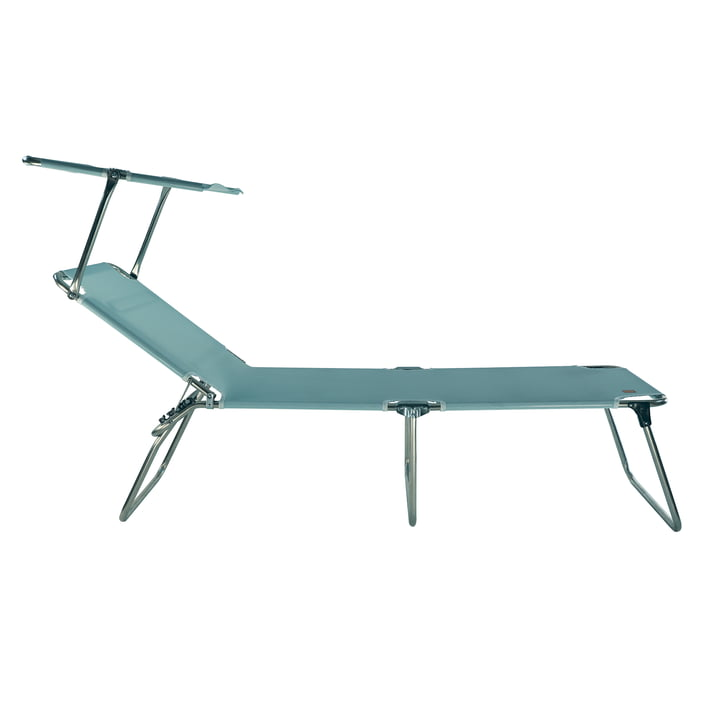 Fiam - Amigo 40+ Sun three-legged lounger with sun canopy, aqua