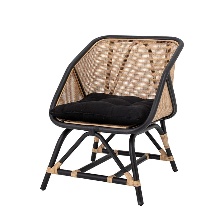 Loue Lounge chair from Bloomingville in rattan nature / black
