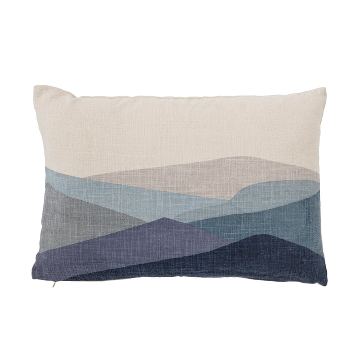 Gaja Cushion 40 x 60 cm from Bloomingville in white / blue