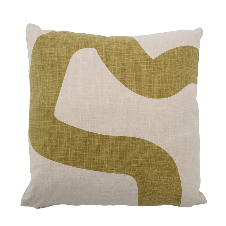 Fedaa Cushion from Bloomingville in the colours natural white / green