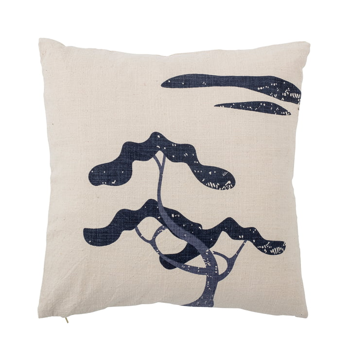 Fe Cushion, 50 x 50 cm from Bloomingville in white / blue