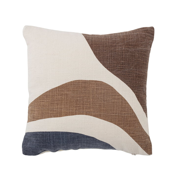 Eane Cushion 40 x 40 cm from Bloomingville in brown / white / blue