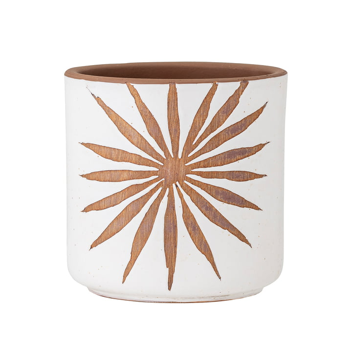 Idris Flowerpot from Bloomingville in white / brown
