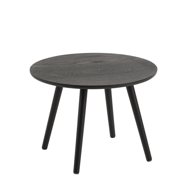 Bord Side table, Ø 50 cm from Nuuck in black / black