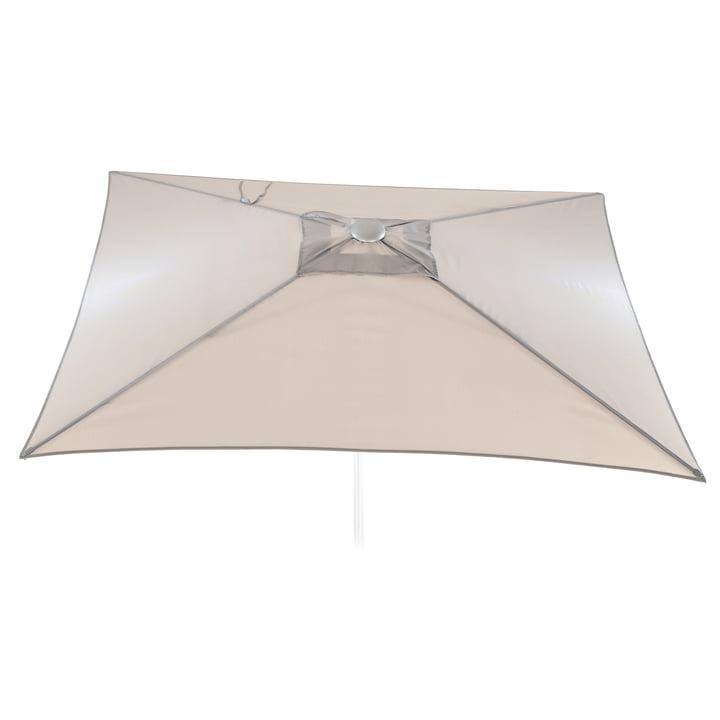 Jan Kurtz - Elba parasol square, 200 x 200 cm, light grey