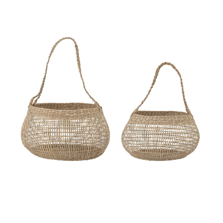 Gianni Storage basket from Bloomingville in sea grass natural (set of 2)