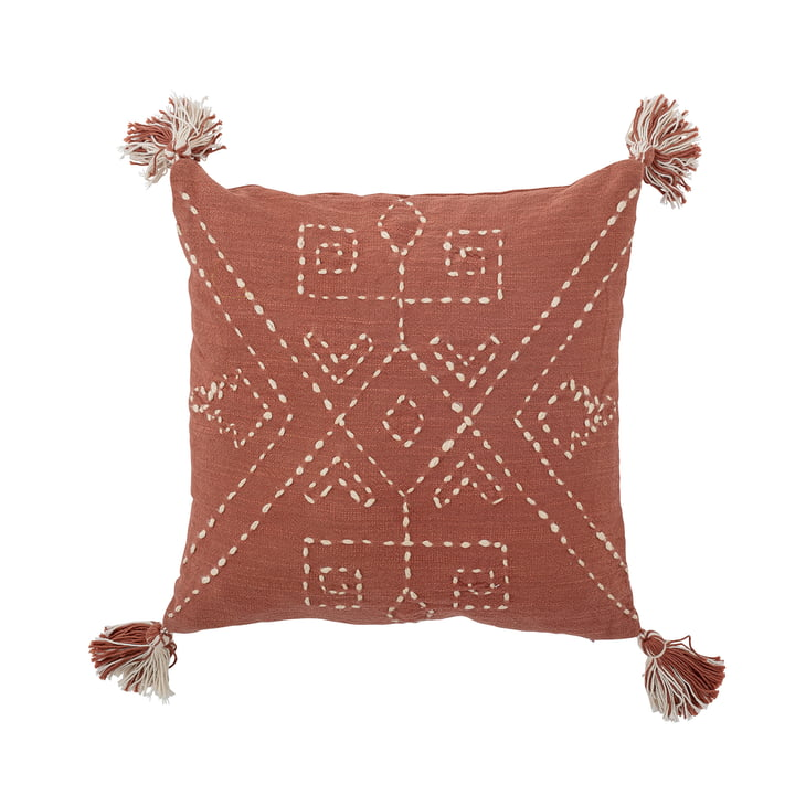 Balther Cushion from Bloomingville in the size 40 x 40 cm in reddish brown