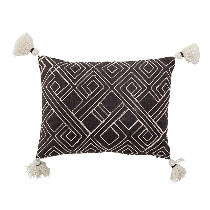 Bali Cushion from Bloomingville in the size 30 x 40 cm in black / white