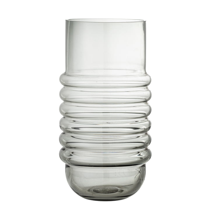 Belma Glass vase H 30 cm from Bloomingville in the colour grey