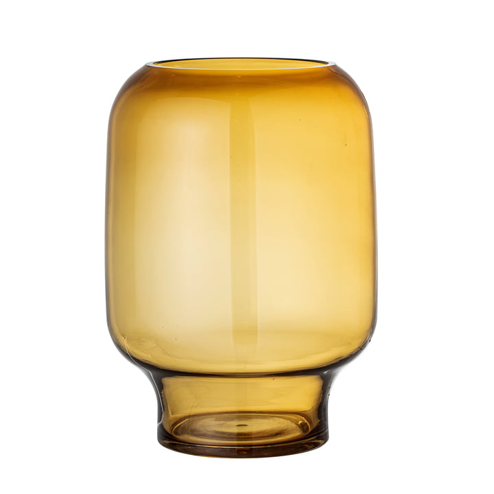 Adine Glass vase H 25 cm from Bloomingville in yellow