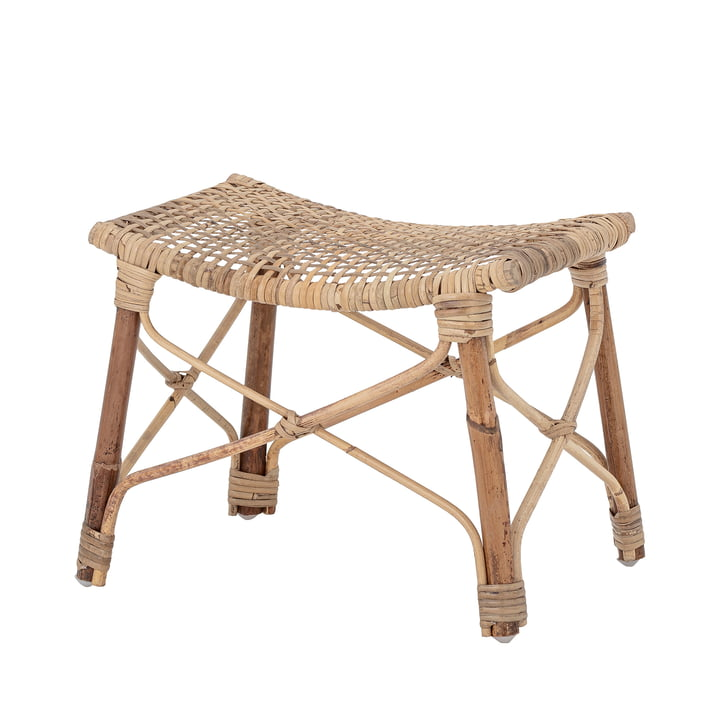 Clotilde Footstool from Bloomingville in natural rattan