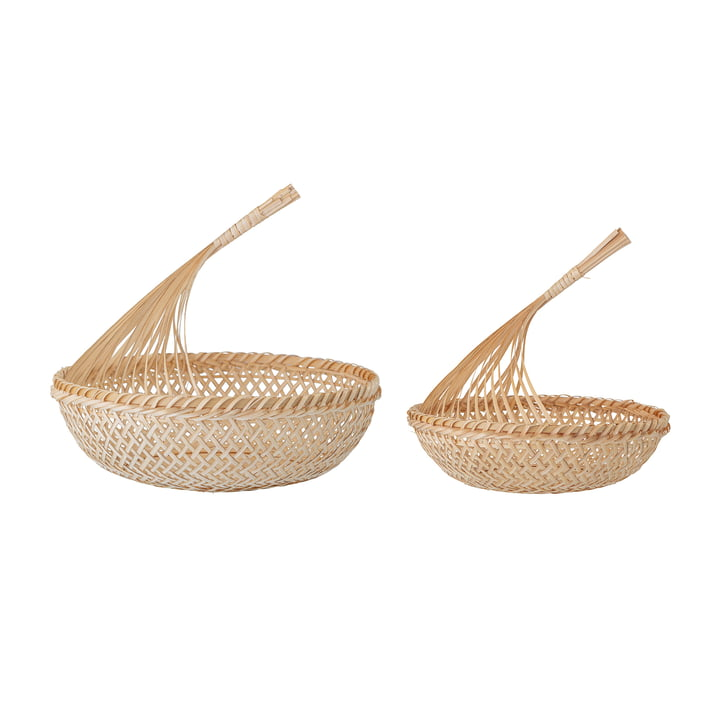 Nicca Storage basket from Bloomingville in natural bamboo (set of 2)