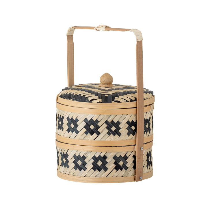 Nian Storage basket from Bloomingville in sea grass natural / black