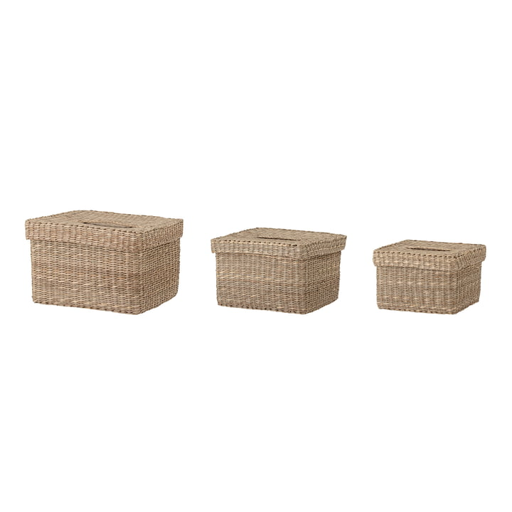 Givan Storage basket, sea grass natural (set of 3) from Bloomingville