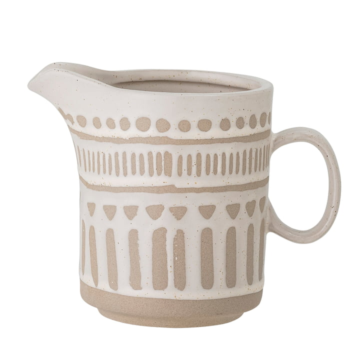 Cora Jug from Bloomingville in light brown / natural white