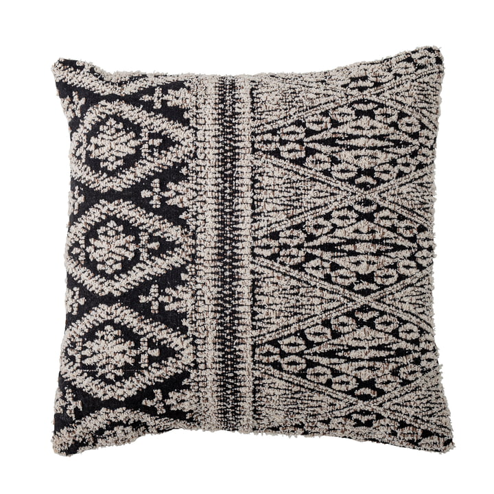 Kuno Cushion from Bloomingville in the colours black / natural white