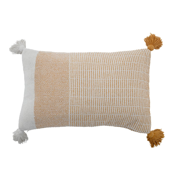 Demi Cushion, 40 x 60 cm from Bloomingville in white / yellow