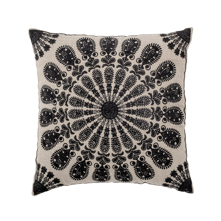 Datta Cushion from Bloomingville in the colours black / nature
