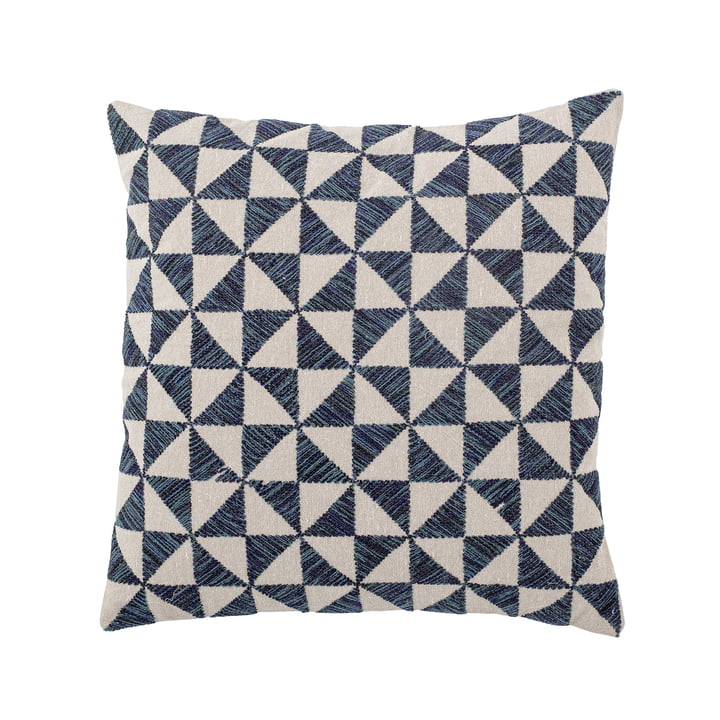 Darnel Cushion from Bloomingville in blue / white
