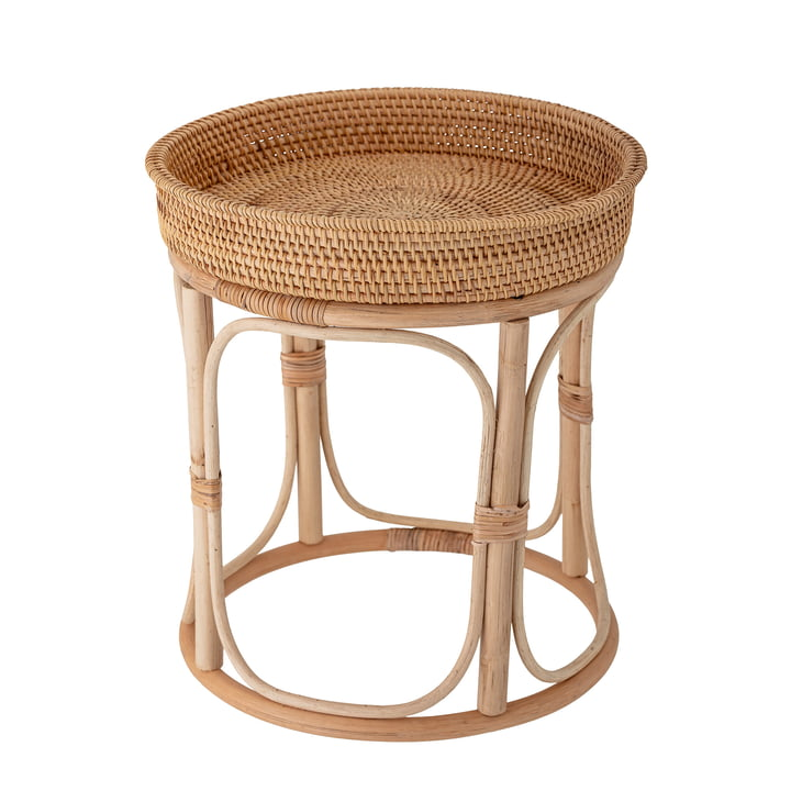 Alda Side table from Bloomingville in natural rattan