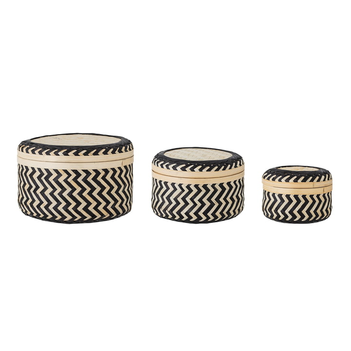 The Jacob bamboo storage baskets (set of 3) from Bloomingville in the colour black