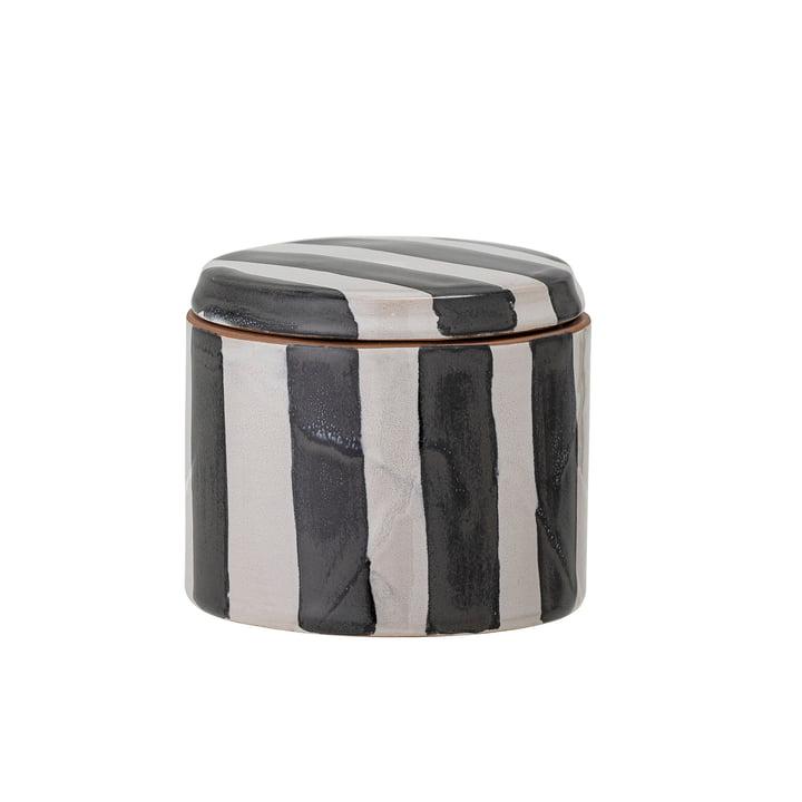 Serina Storage tin, H 7,5 cm, black / white from Bloomingville