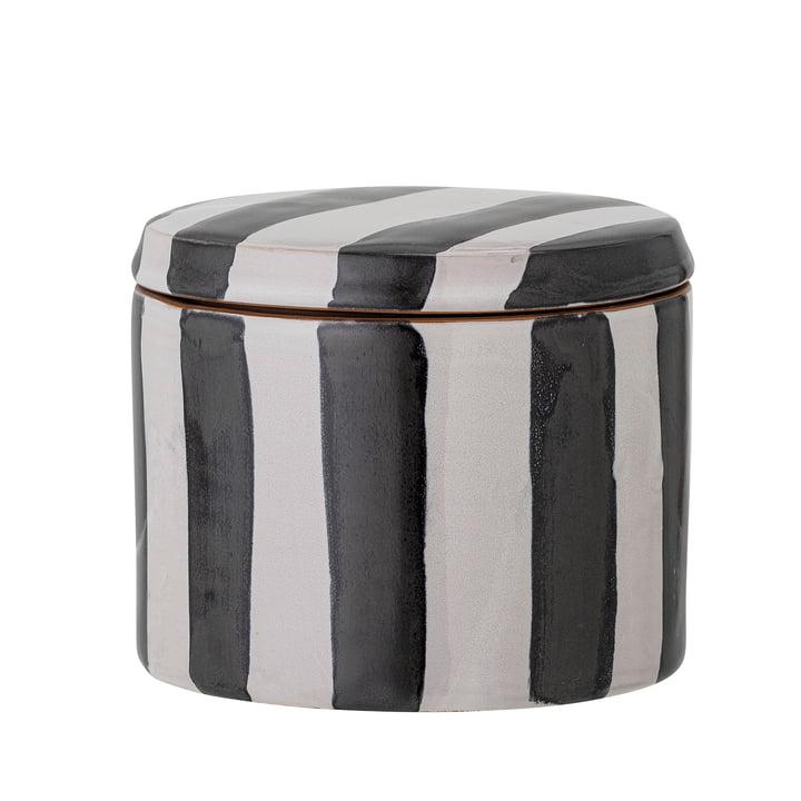 Serina Storage box, H 10,5 cm, black / white from Bloomingville