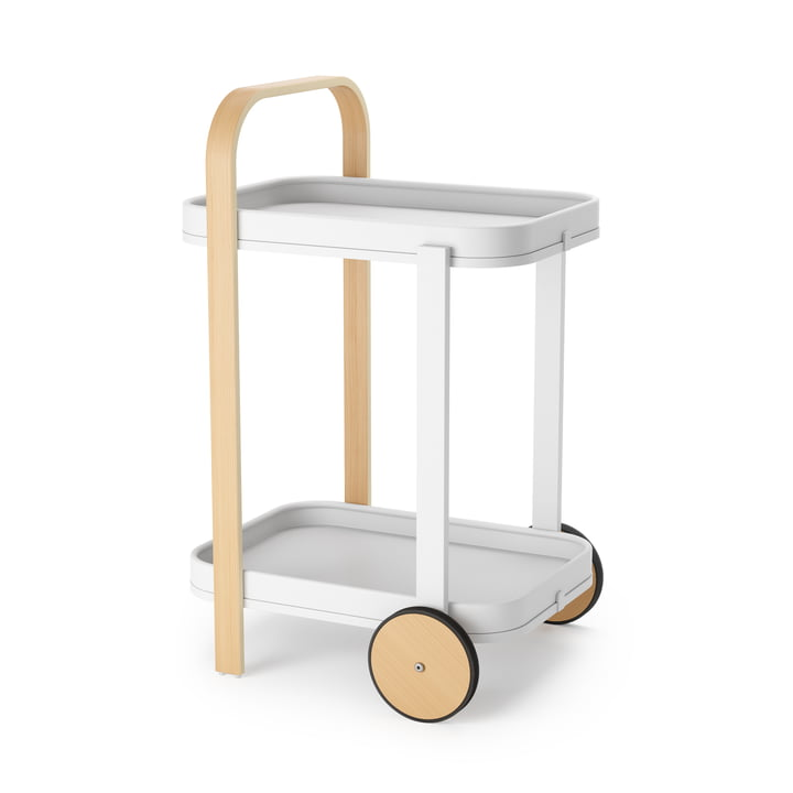 Bellwood Serving trolley from Umbra in white / nature