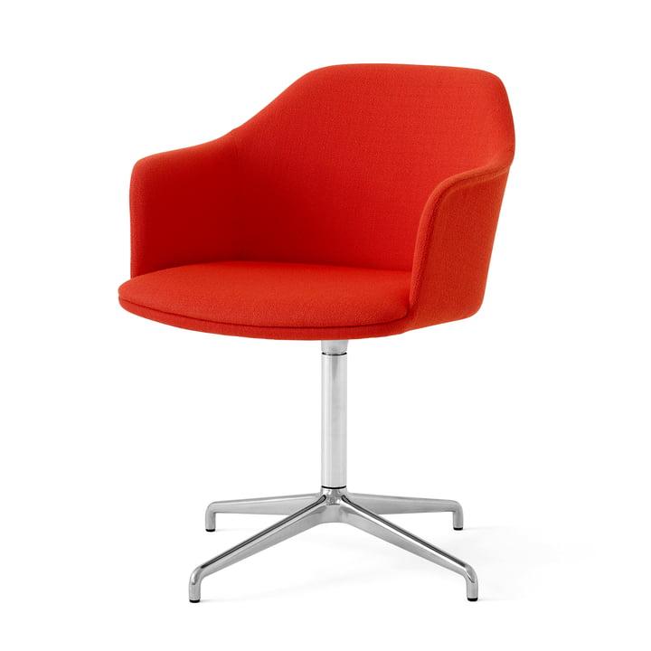 Rely HW41 Armchair, aluminium polished / Kvadrat Vidar 542 by & tradition