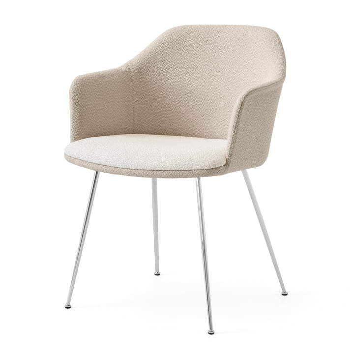 Rely HW36 Armchair, chrome / Karakorum 001 by & tradition