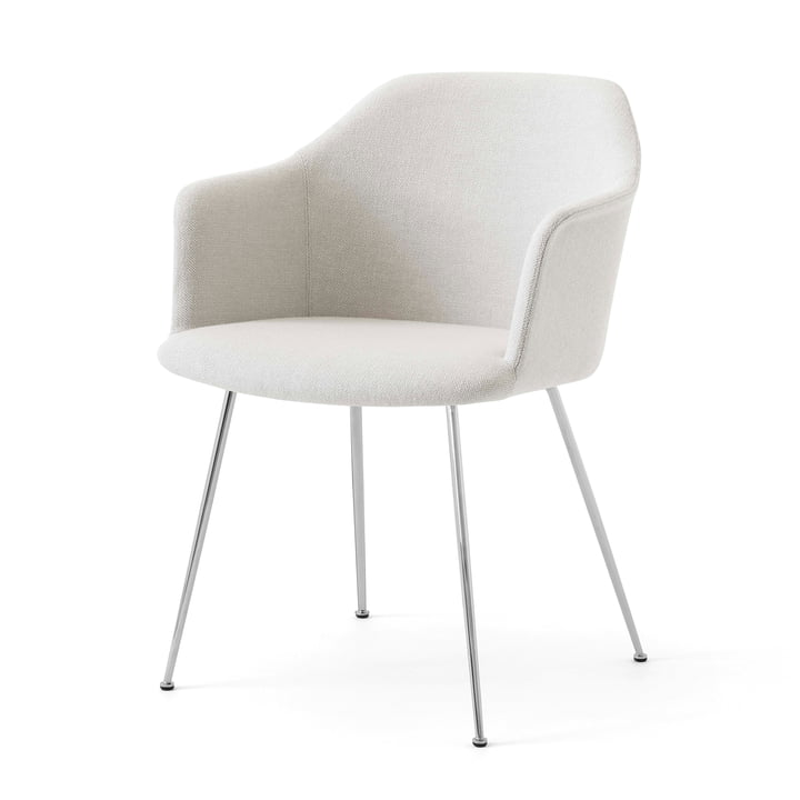 Rely HW35 Armchair, chrome / Kvadrat Hallingdal 103 by & tradition
