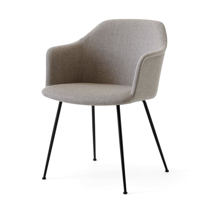 Rely HW35 Armchair, black / Kvadrat Re-Wool 218 by & tradition