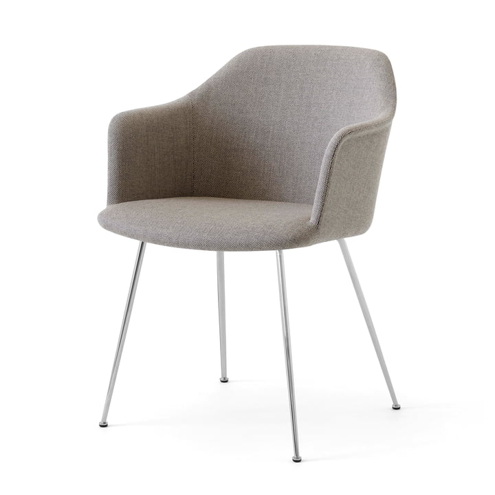 Rely HW35 Armchair, chrome / Kvadrat Re-Wool 218 by & tradition