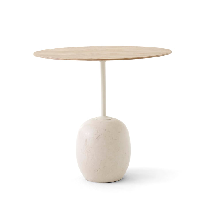 Lato side table H 45 cm, 40 x 50 cm, oak / Crema Diva marble by & Tradition