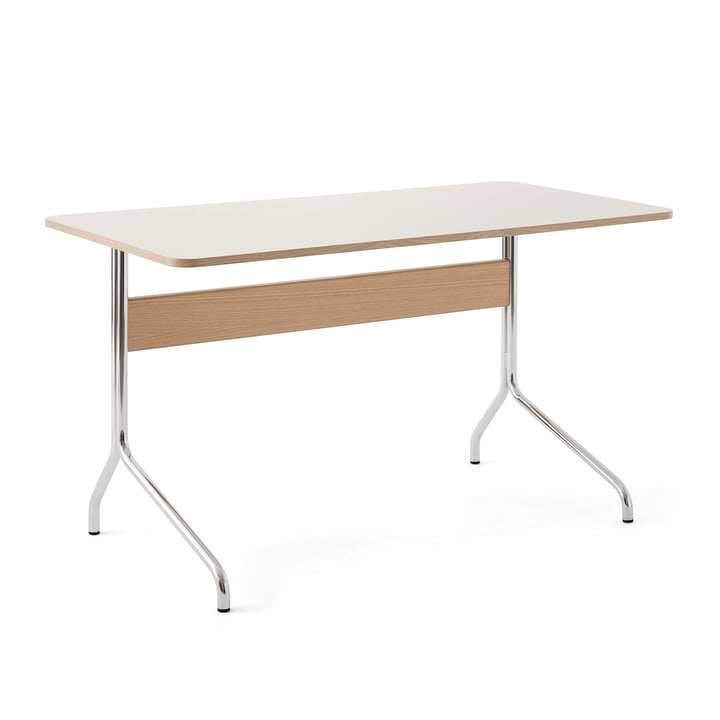 Pavilion AV16 Desk, 130 x 65 cm, Oak / Linoleum Mushroom (4176) from & tradition