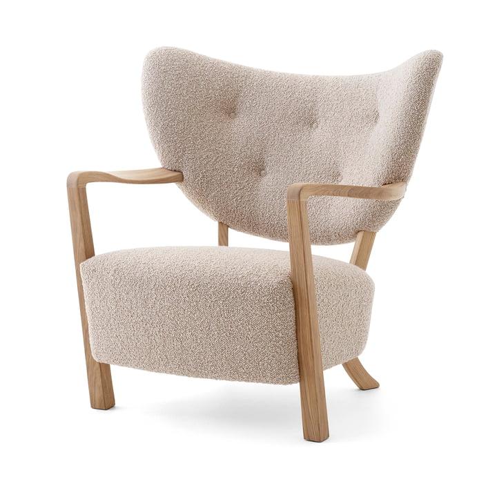 Wulff ATD2 Lounge Chair, oak oiled / beige ( Karakorum 003 ) from & tradition