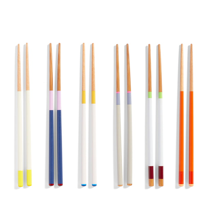 Chopsticks from Hay in colourful design in a set of 6
