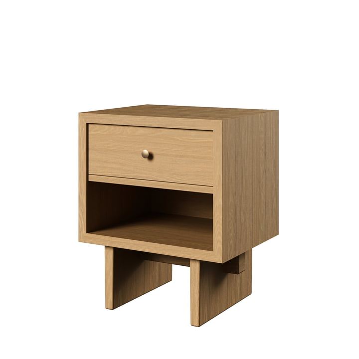 Private Side table, H 60 cm, natural / oak from Gubi