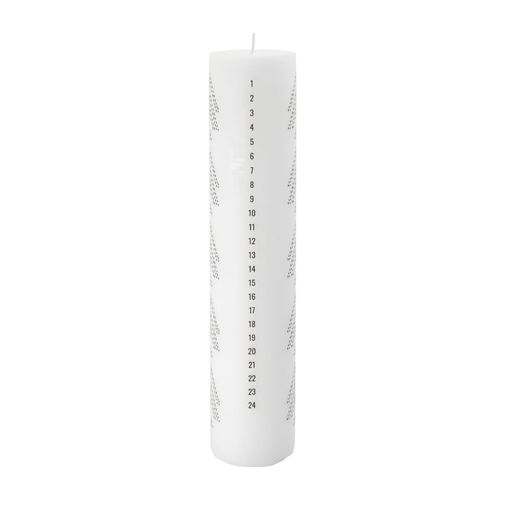 Joy Calendar candle from House Doctor in the color white