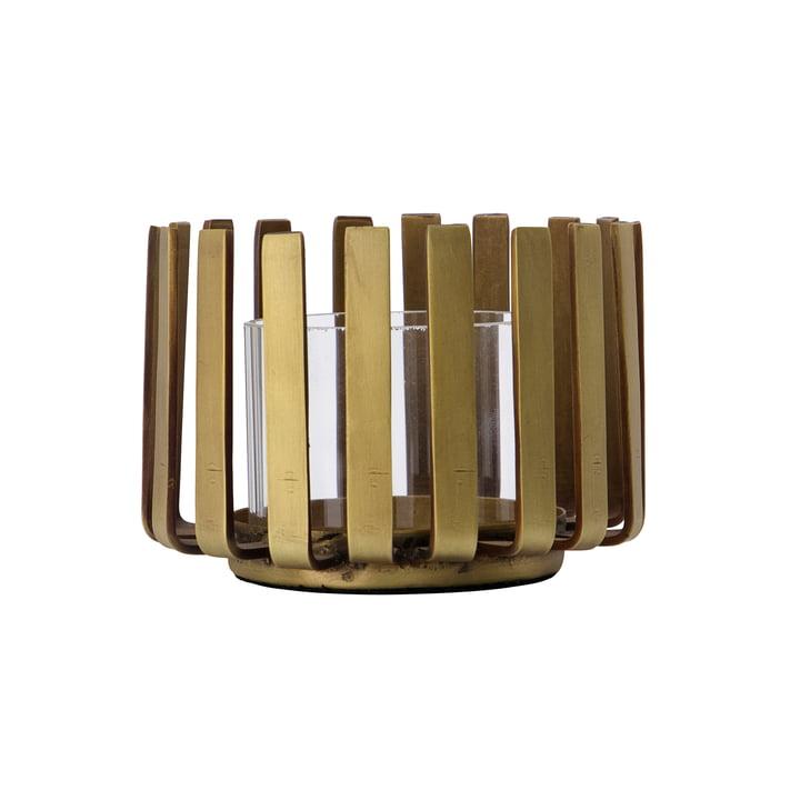Bars Tealight holder Ø 10 x H 7. 5 cm from House Doctor , antique brass