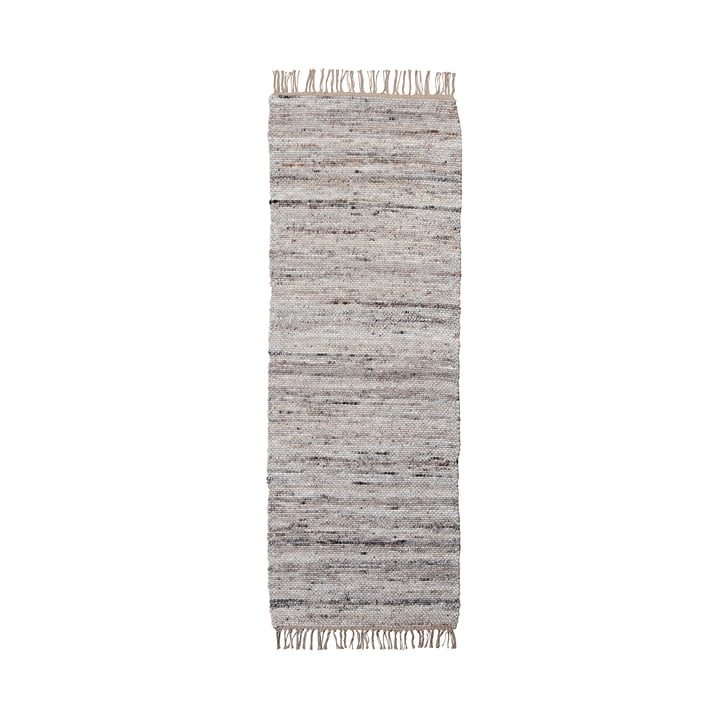 Hafi Carpet 200 x 80 cm from House Doctor in grey / brown