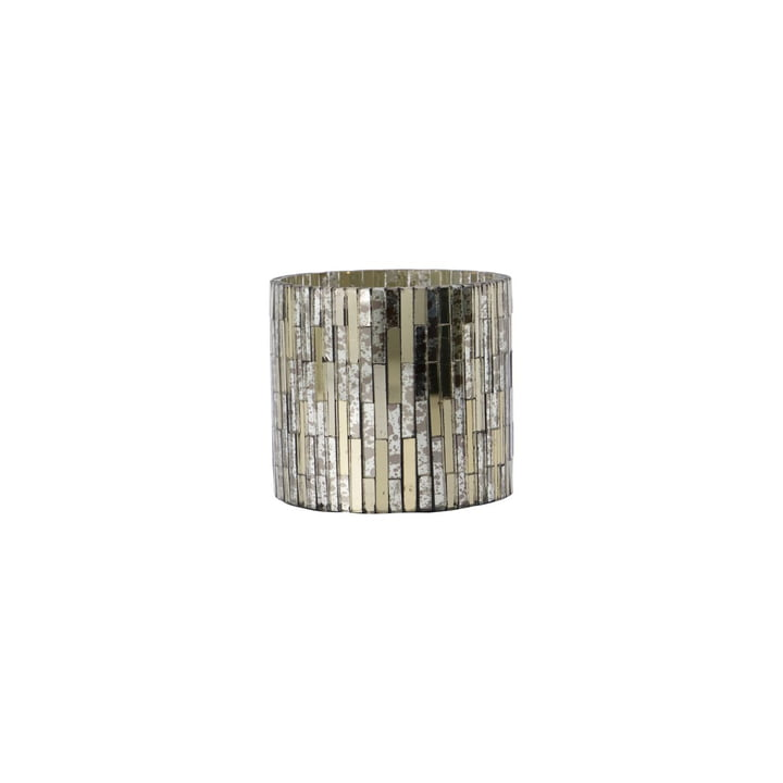 Cara Mosaic tealight holder Ø 7. 5 x H 7. 5 cm from House Doctor , silver