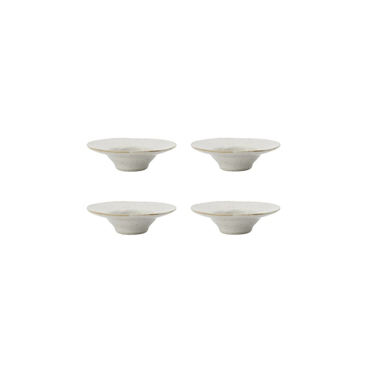 Pion Egg cups from House Doctor , grey / white (set of 4)