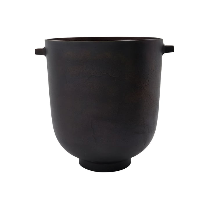 Foem Cachepot Ø 25 x H 28 cm from House Doctor in browned brass